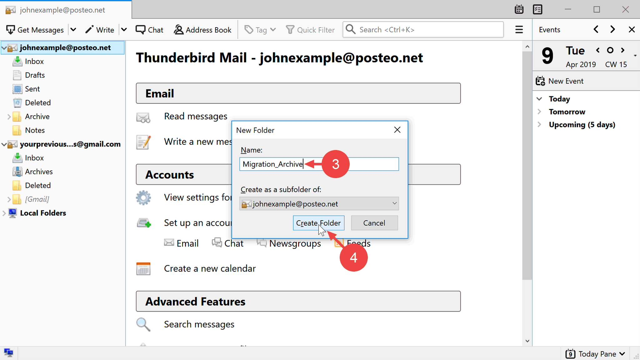 Help - How do I copy emails, contacts and calendars from