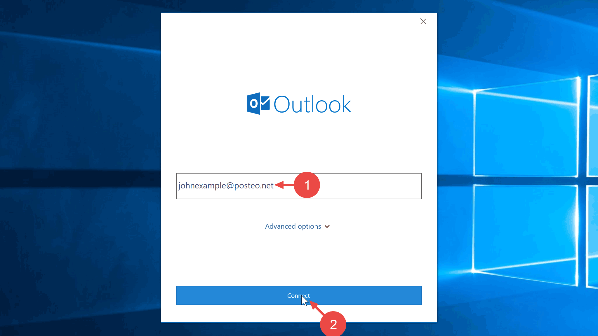 Help - How do I set up Posteo in Outlook? - posteo de
