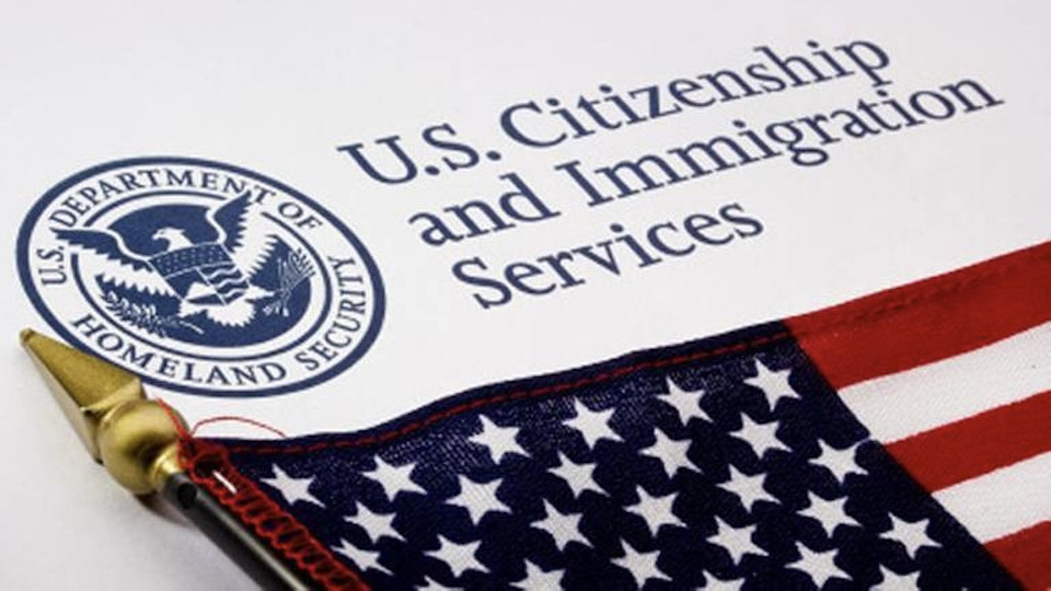 USCIS-Lettering with Flag